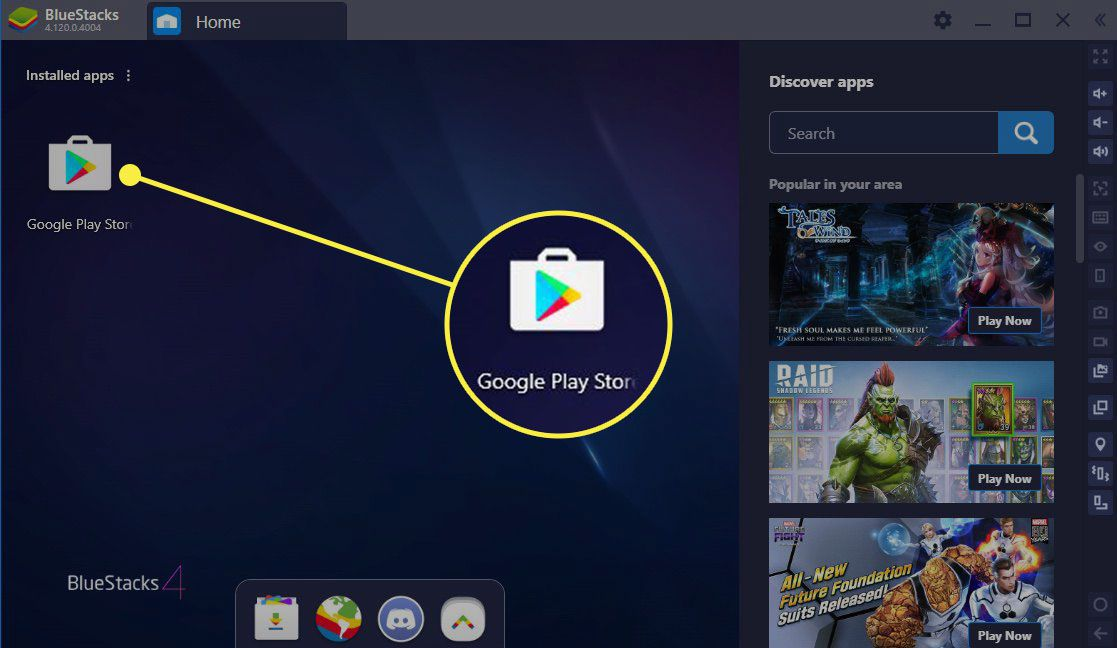 Open the Google Play Store