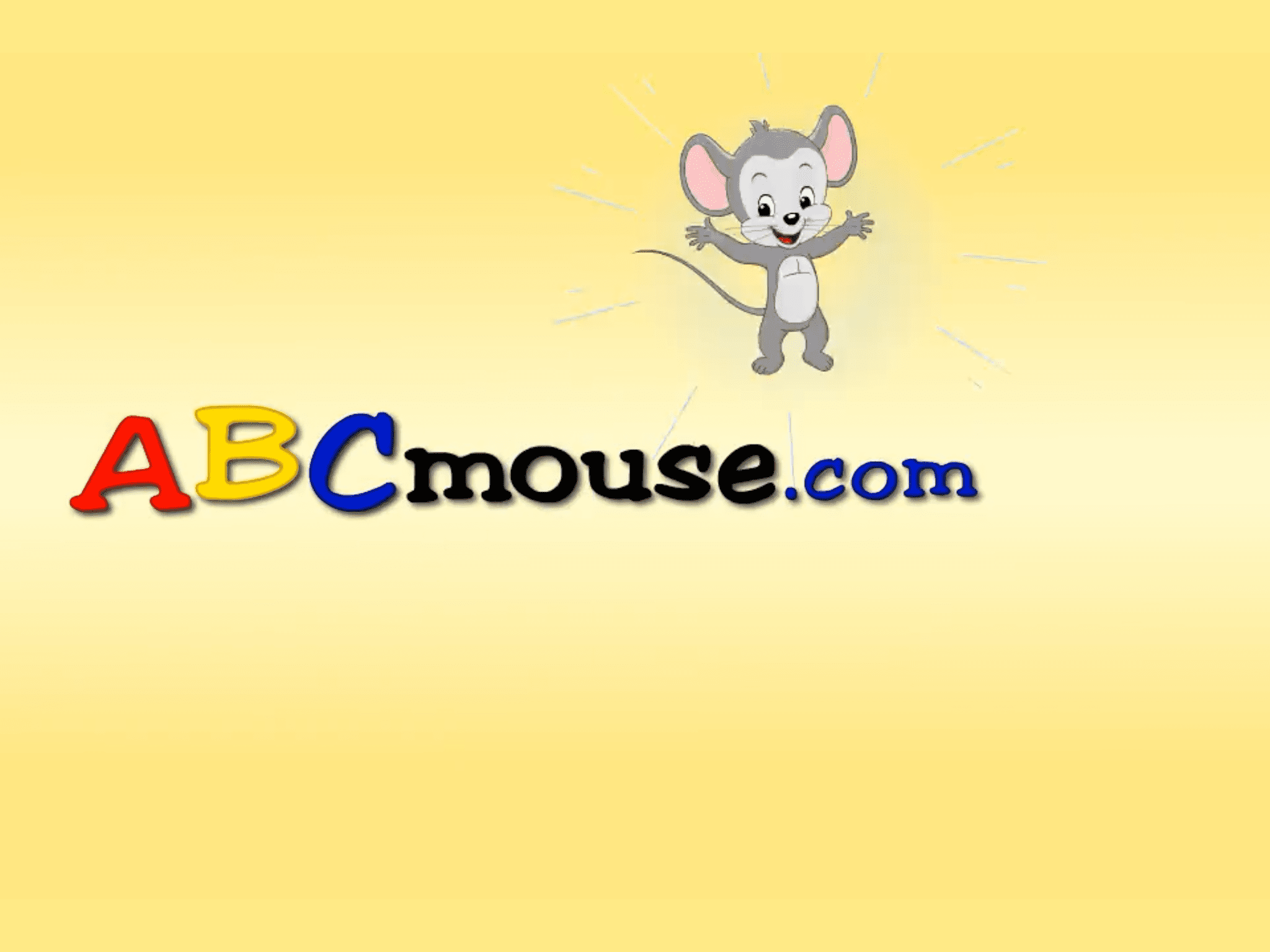 Illustrated mouse next to abcmouse.com