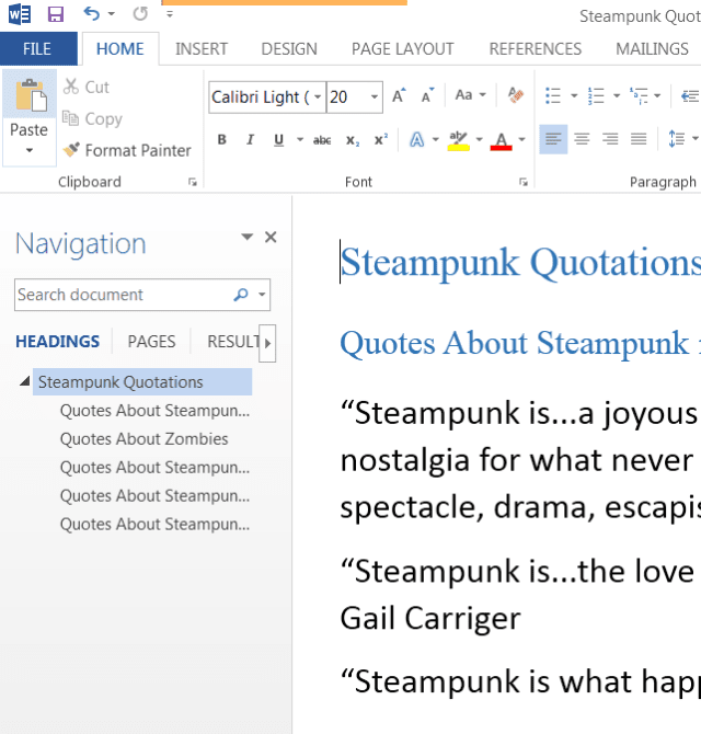 word activate default reviewing pane