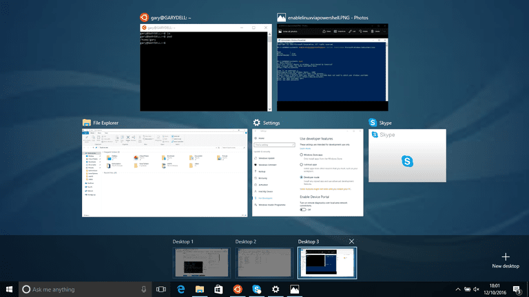 Linux Style Virtual Desktops In Windows 10