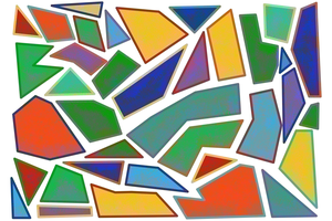 Illustration of fragmented abstract shapes