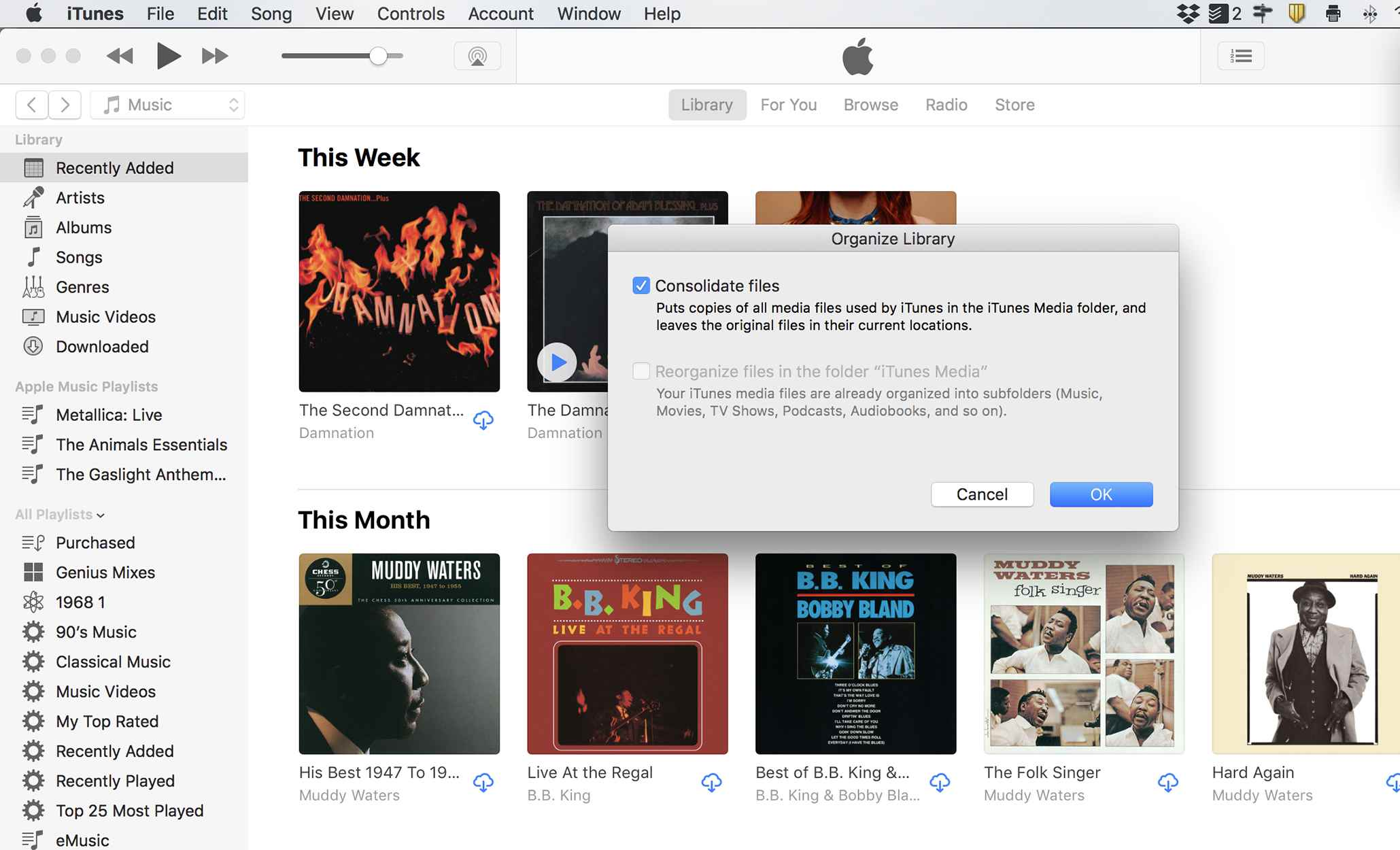 How do I consolidate music from 2 iTunes Accts into 1 Acct