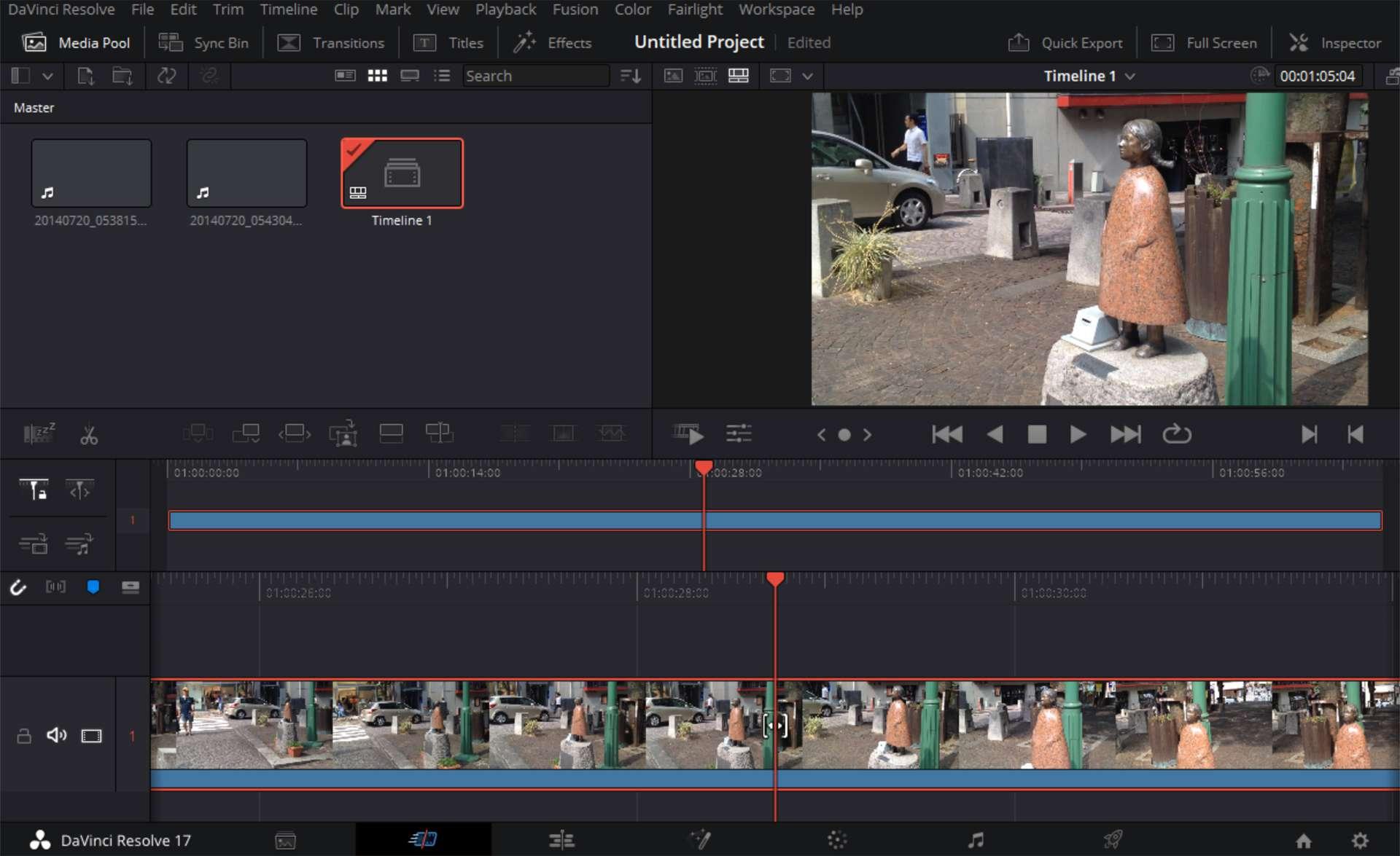 DaVinci Resolve video editing app on Windows 10.