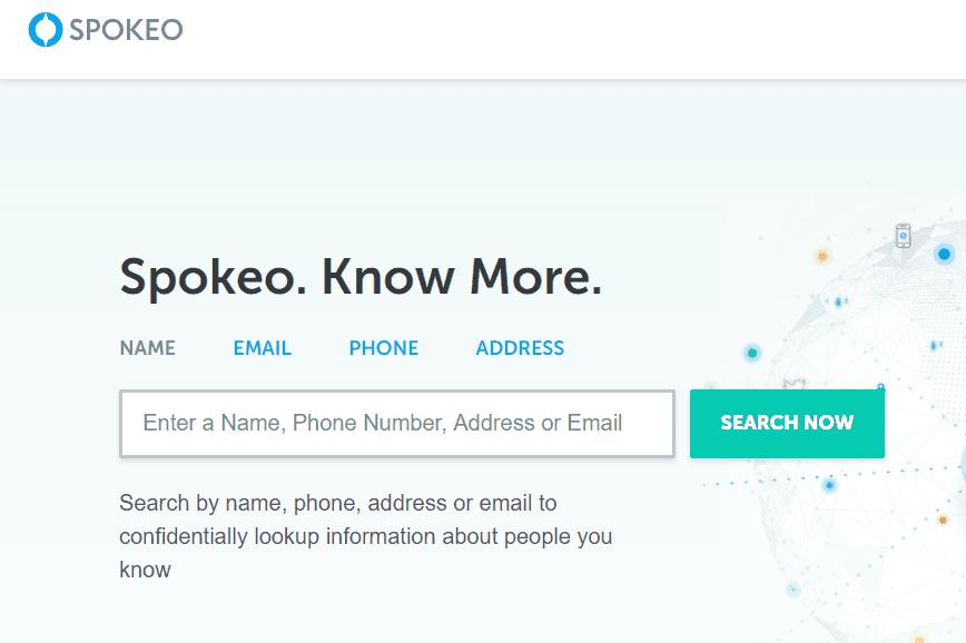 Spokeo home page