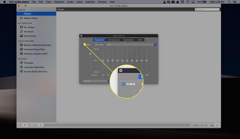 VLC EQ enable