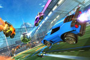Screenshot from Rocket League
