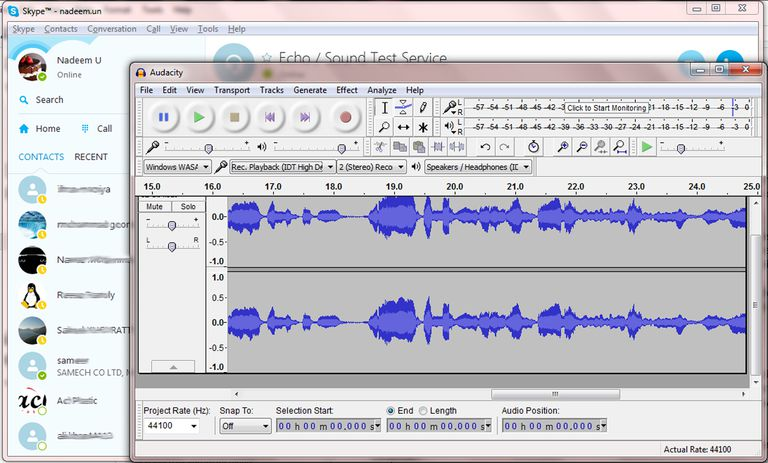 Record Calls Using Audacity
