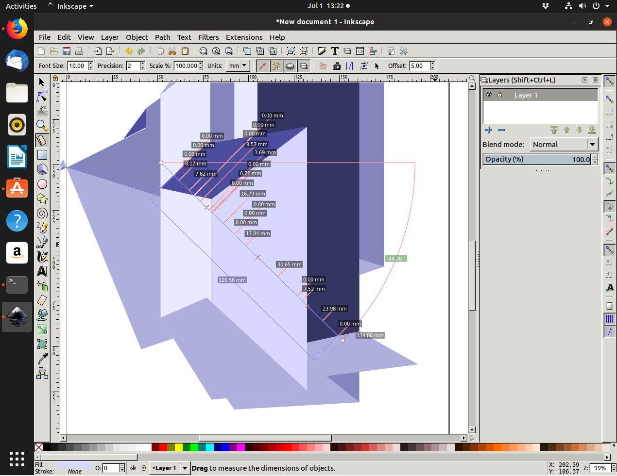 Creating abstract art on Inkscape.