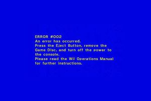 Error #002 Message