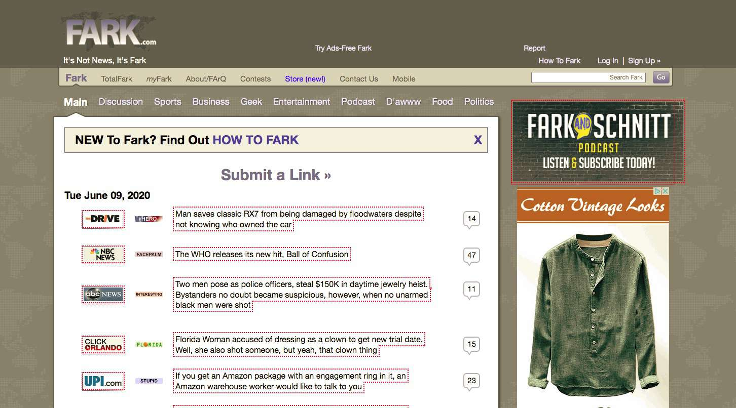 Fark Home Page
