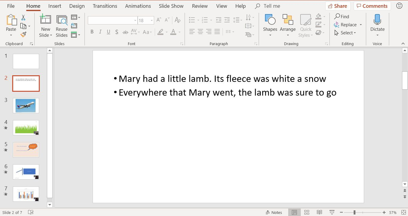 PowerPoint Tip: New Text Line With No Bullet Point