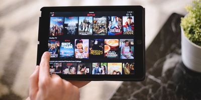 Netflix on a tablet
