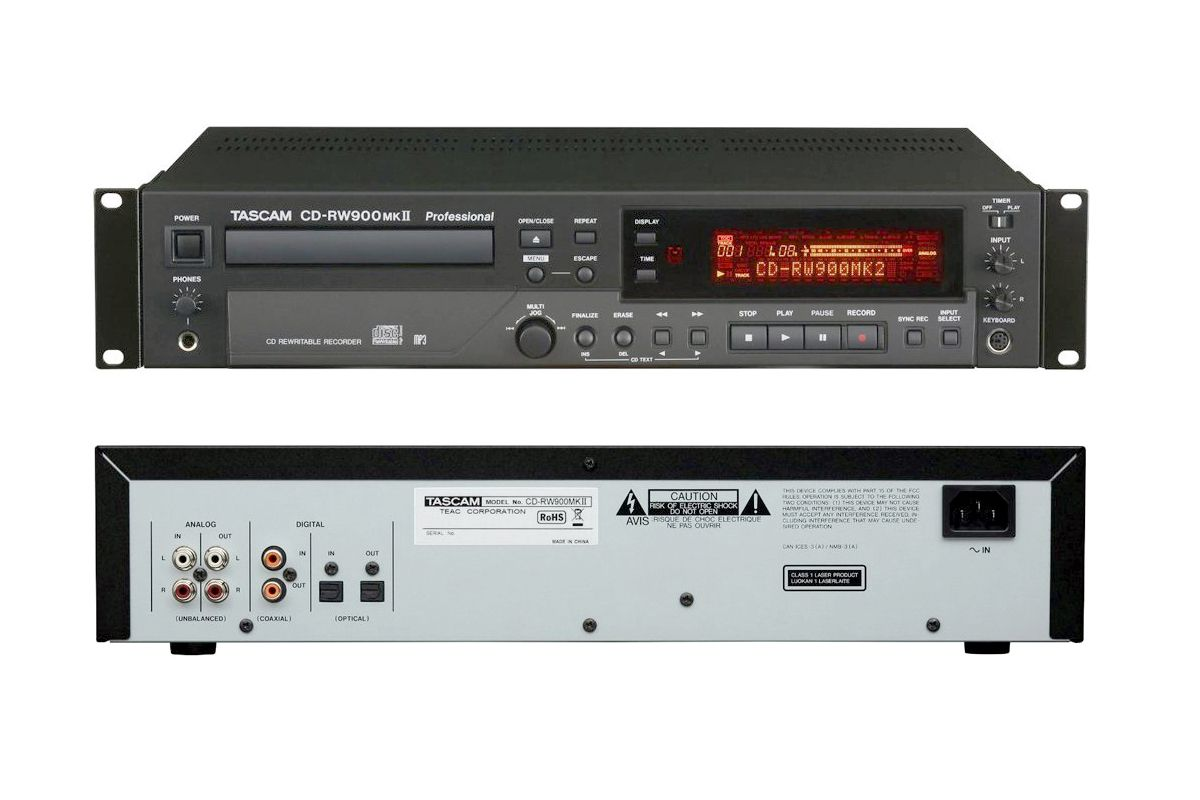 Tascam CD-RW900MKII Professional CD Recorder
