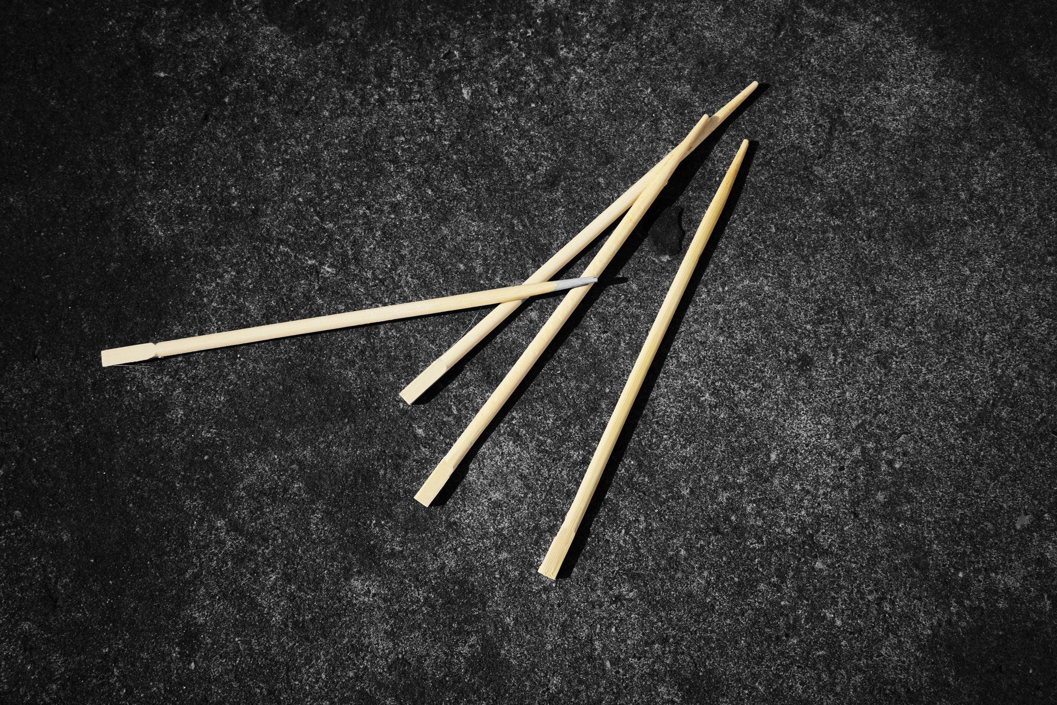 Toothpicks on a dark background
