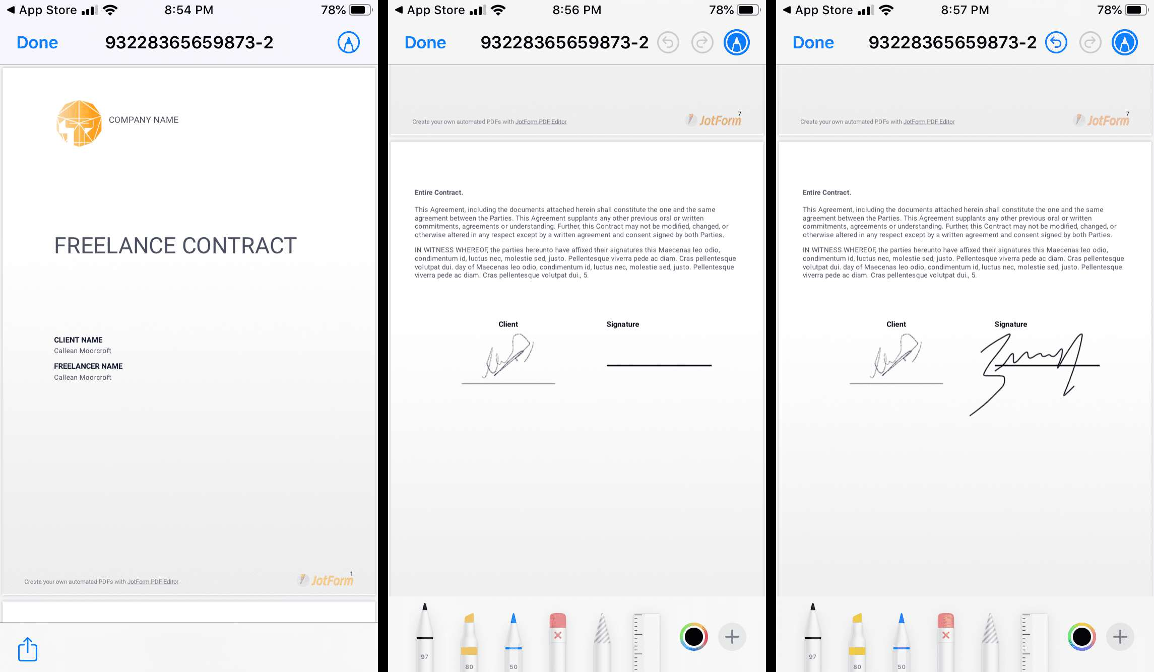 How to sign a PDF on an iPhone or iPad.