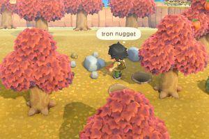 Animal Crossing character facing Iron Nugget