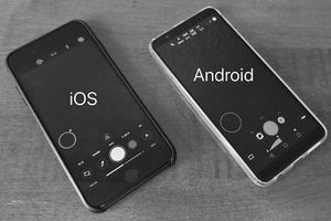 iPhone (left) and Android (right) with ProShot on both