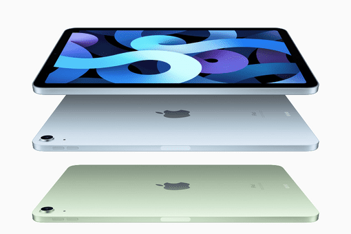 The new iPad Air in various colors