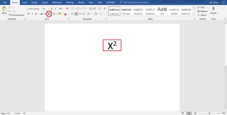 how to do superscript in Word