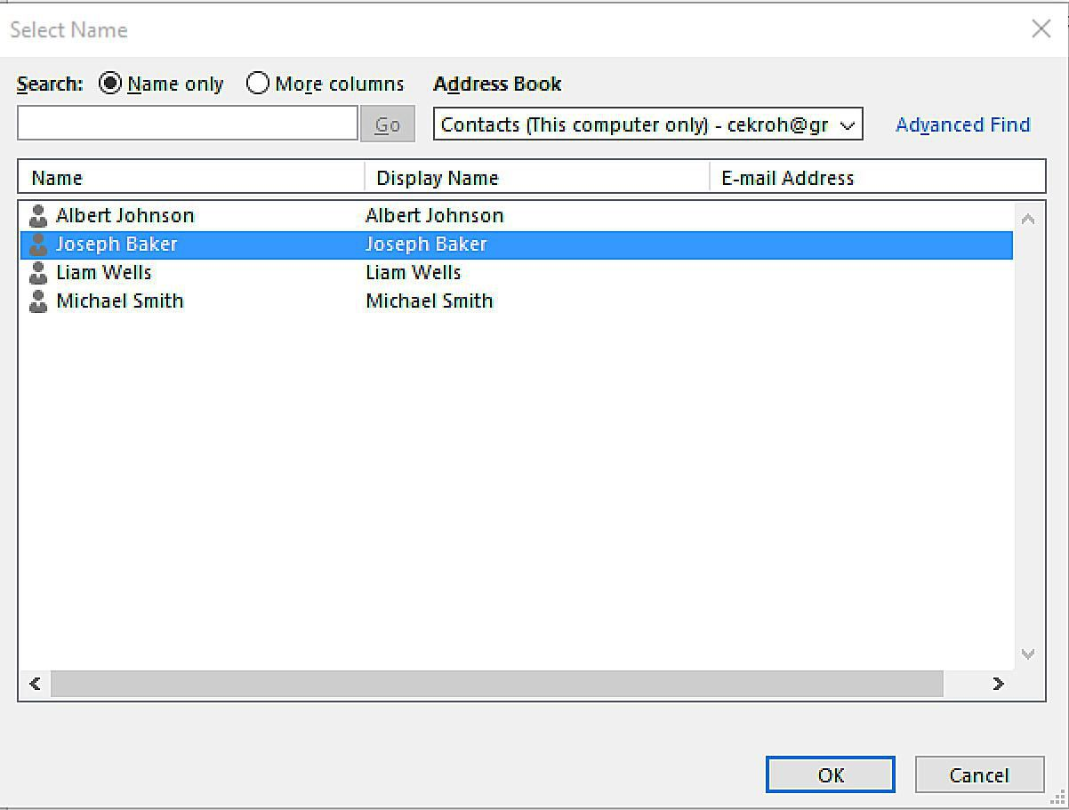 how to use address book in microsoft word