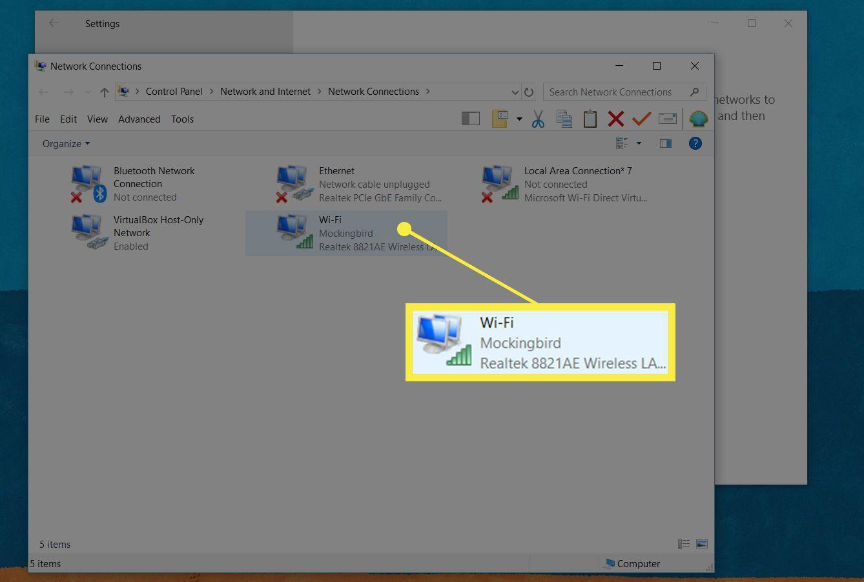 A screenshot of a Wi-Fi network in Windows settings