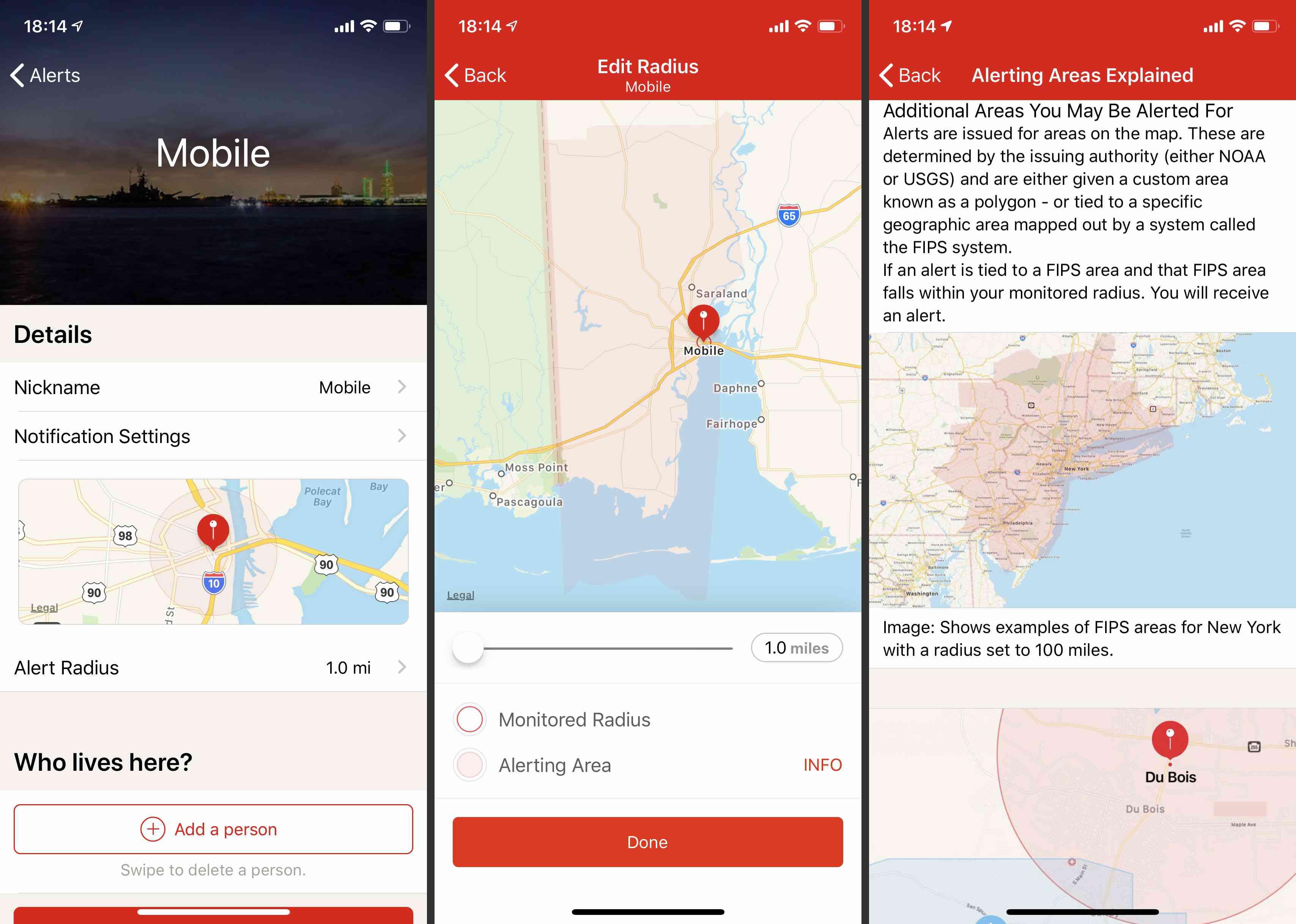 The Flood: American Red Cross app