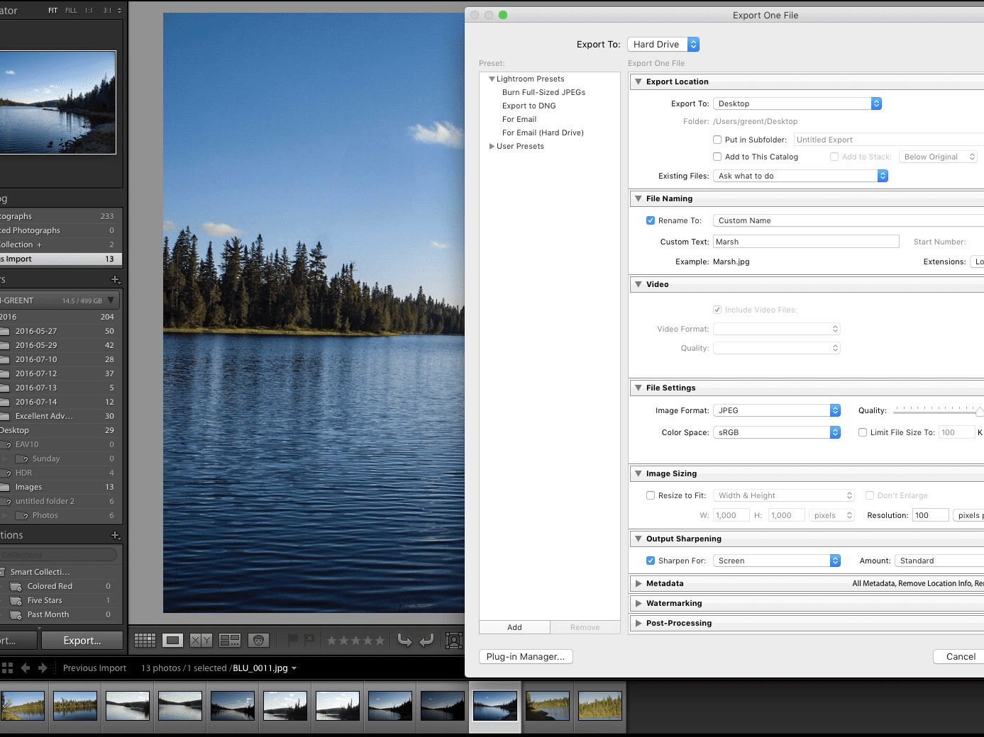 Use Export From Lightroom to Save Photo Edits