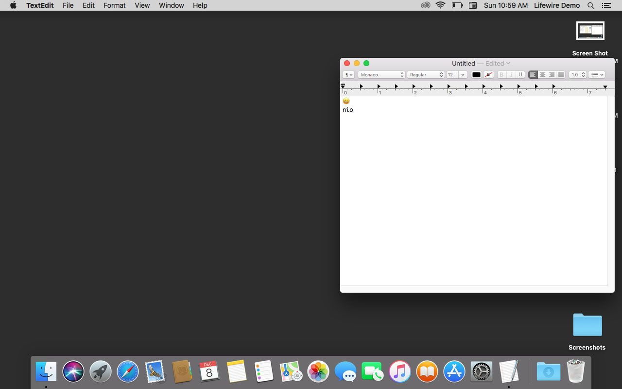 A text file awaiting a special symbol in macOS.