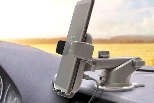 Wireless phone charging car mount