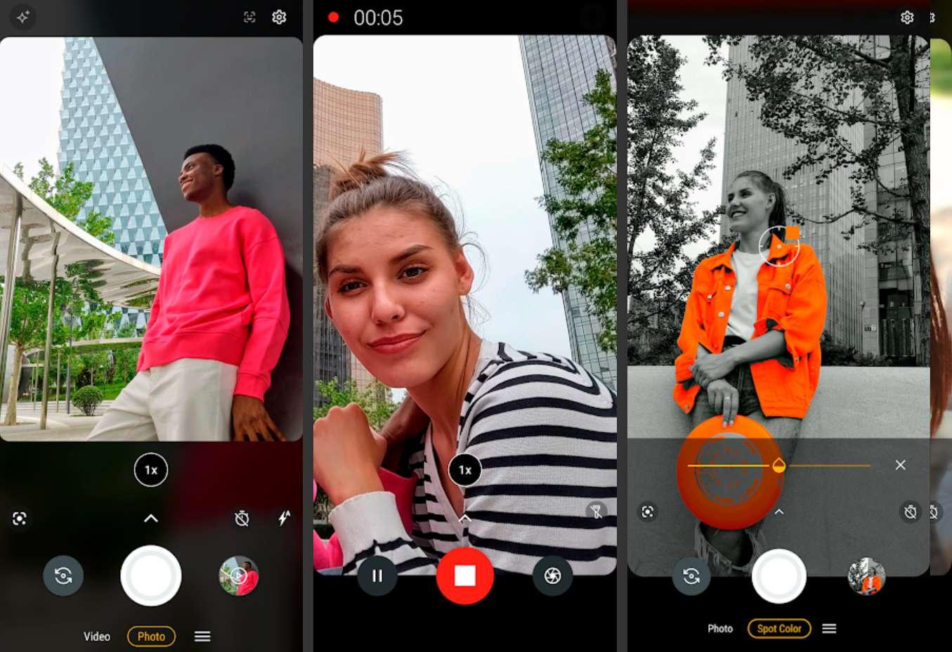 Moto Camera app showing various options