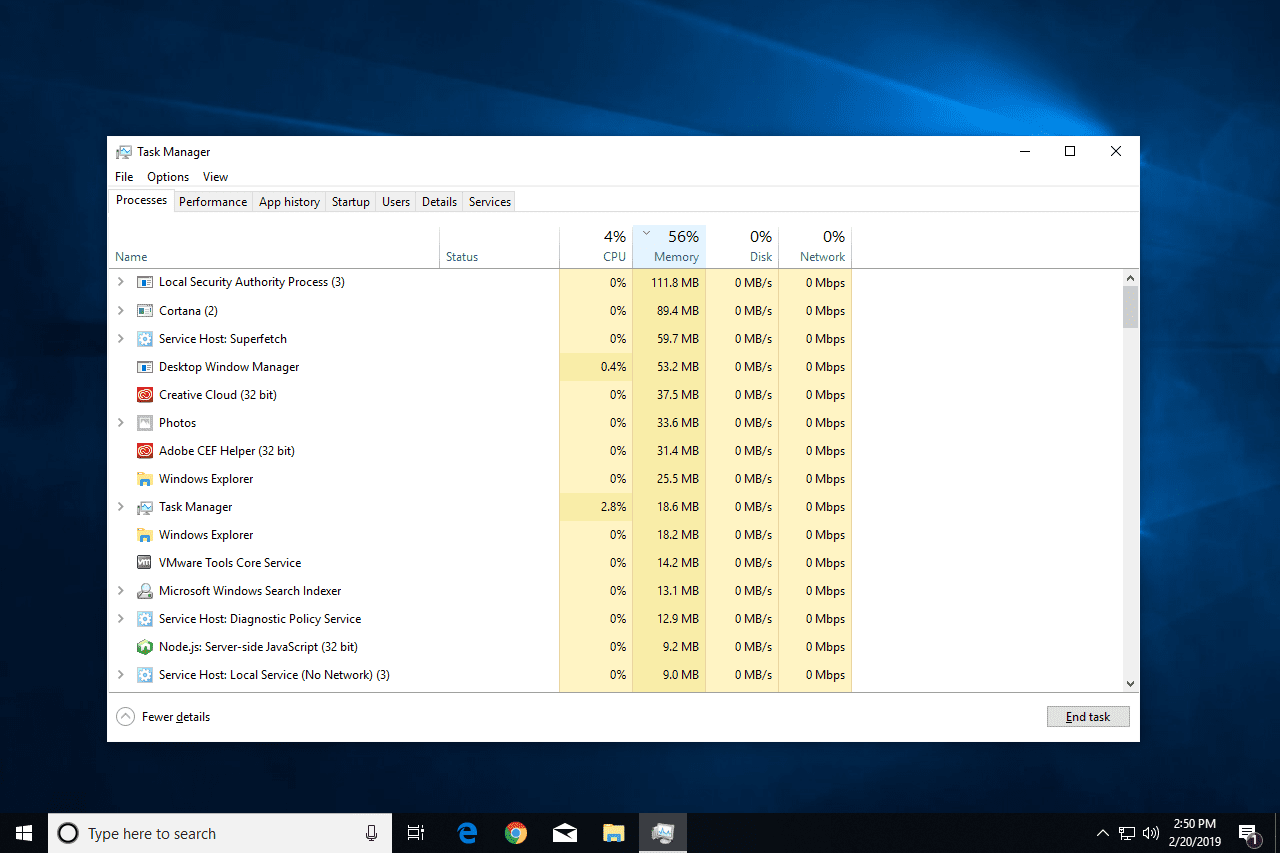 Local Security Authority Process high memory usage in Windows 10 Task Manager