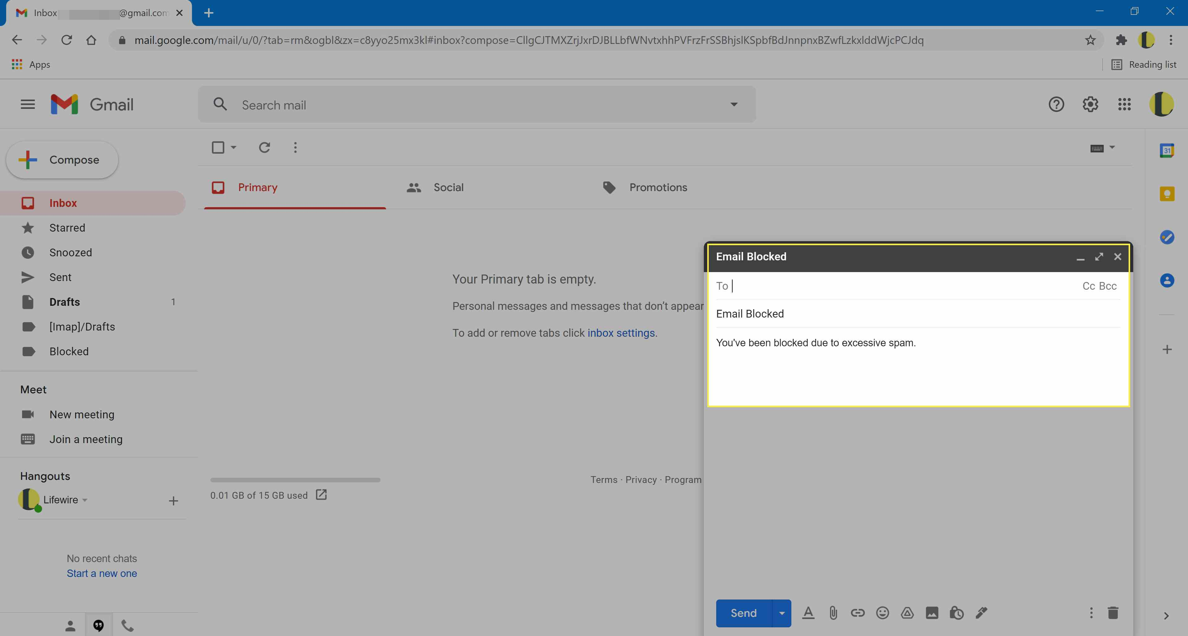Gmail compose template message