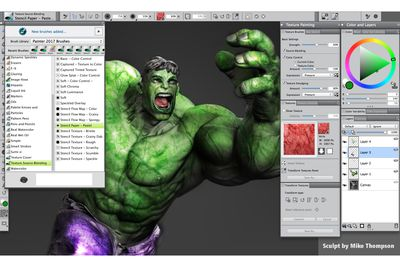 Corel Painter 2017 with Texture Painting tools