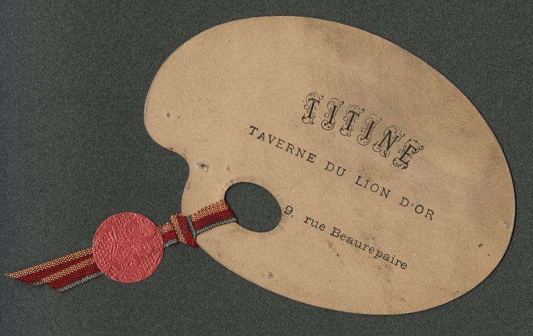 Unique, French, mini business card