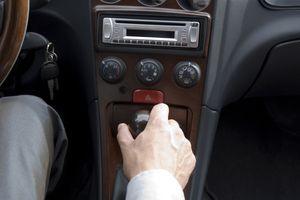 1 DIN car stereo in a car