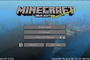 Screenshot of Minecraft Login Screen