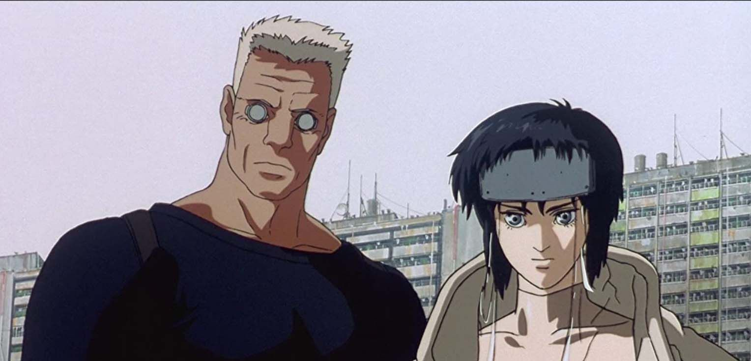 Motoko Kusanagi and Batou in
