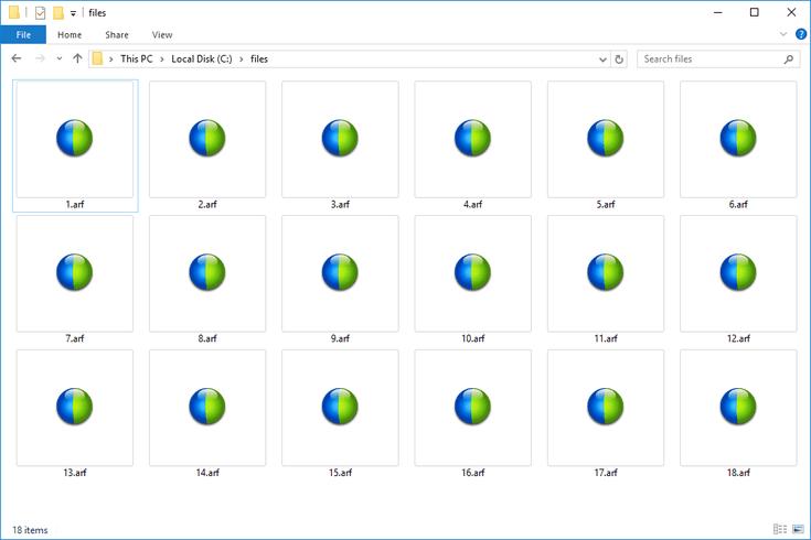 convert arf file