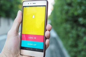 Snapchat on smartphone