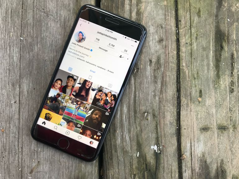 image showing Instagram on iOS
