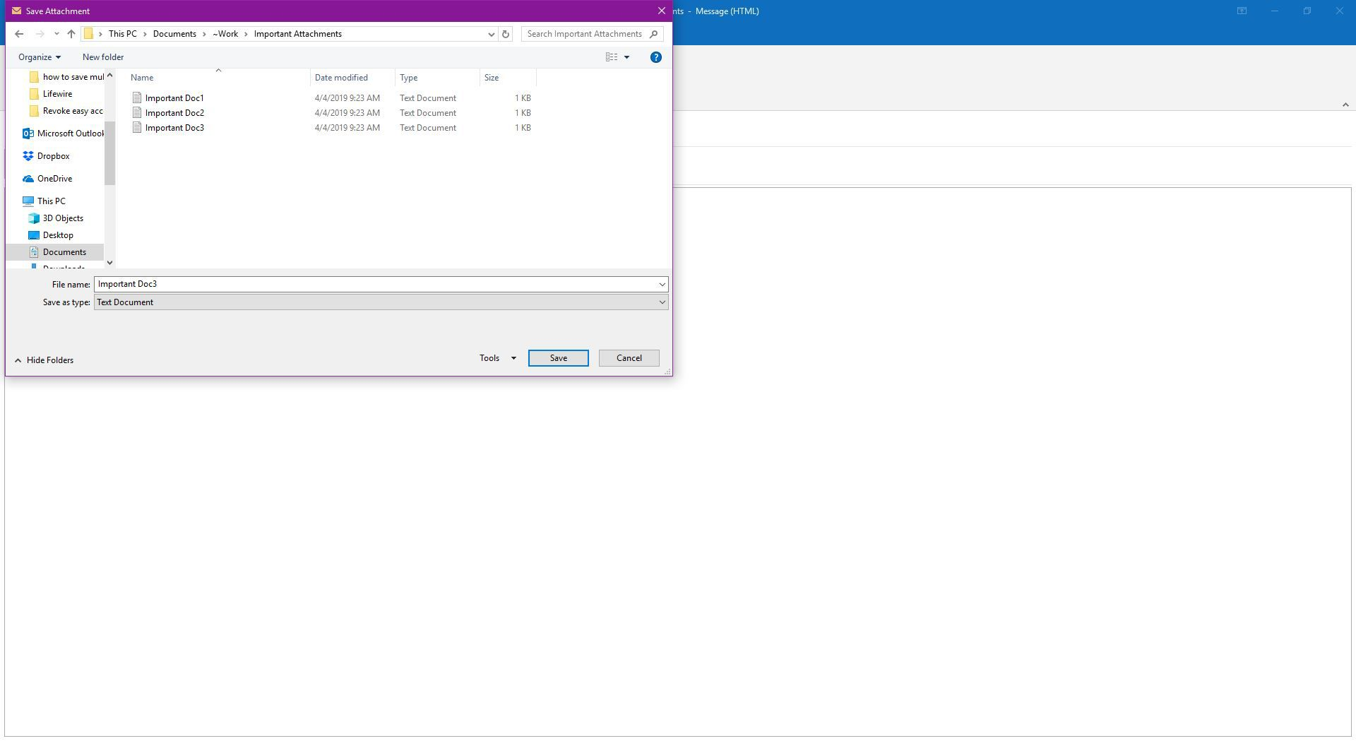 How to Save Multiple Attachments at Once With Outlook
