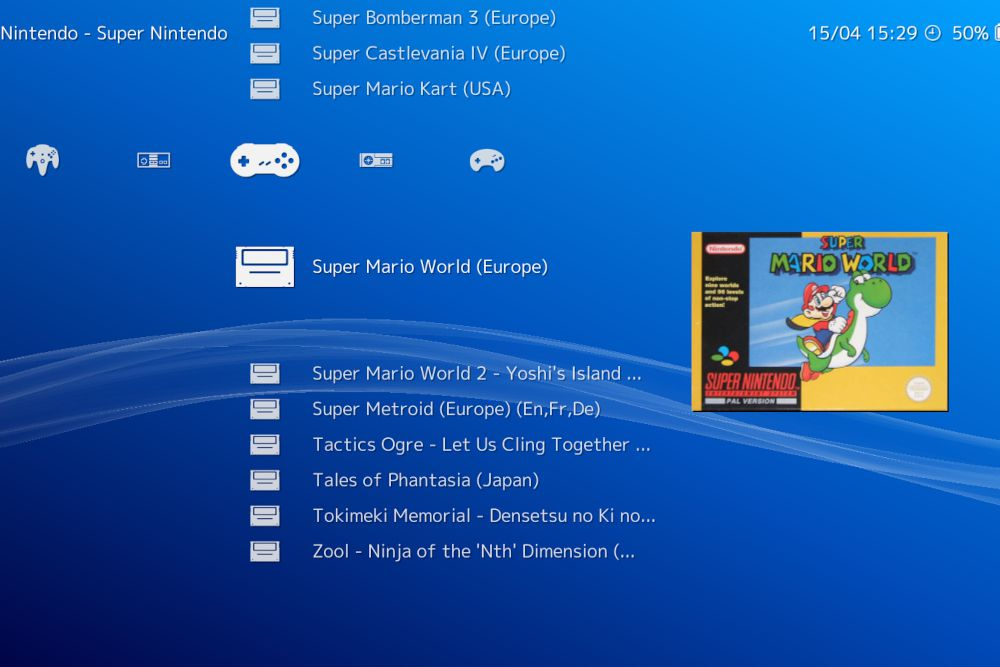 Image of Retroarch main menu interface
