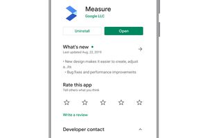 Android Measure app on Google Play store