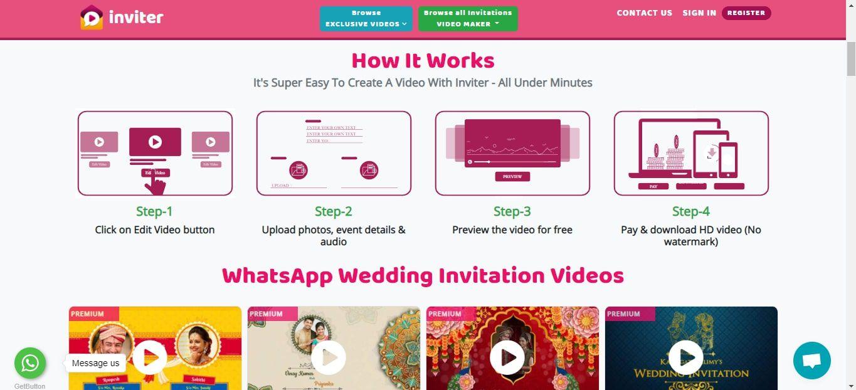 Inviter video cards website