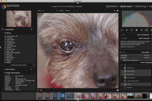Darktable for Mac and Linux screenshot