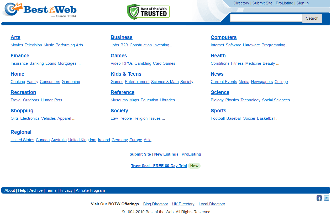 How to Find a Website