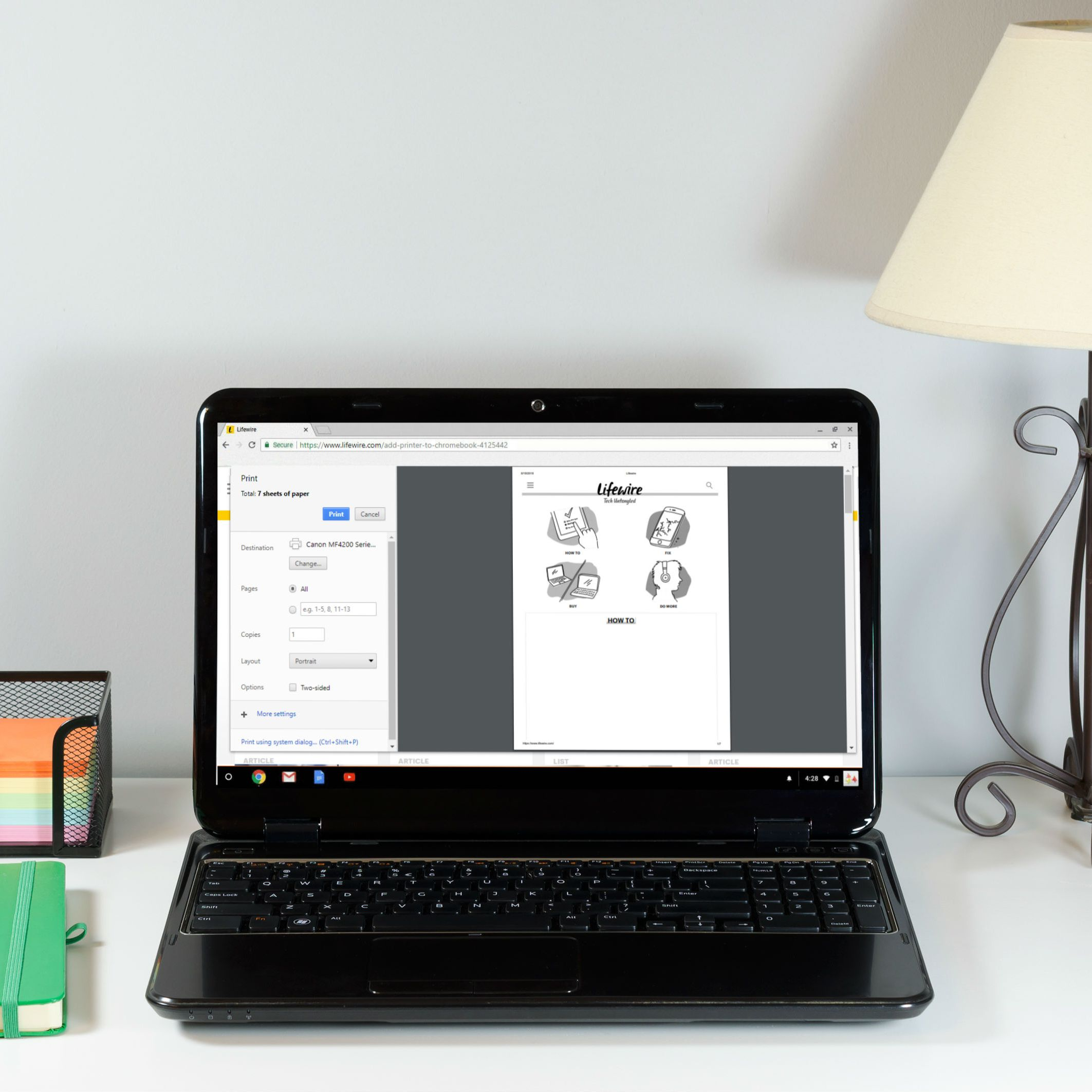 How to Print From Your Chromebook