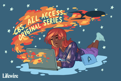 A person watching Star Trek via CBS All Access on their laptop