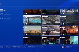 PlayStation 4 Capture Gallery with screenshots visible