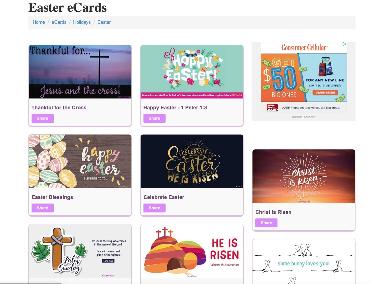 CrossCards free Easter E-Cards